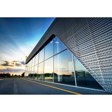 Двойные алюминиевые ненесущие стены из закаленного стекла