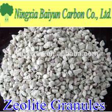 Medios de filtro de agua de gránulos de zeolita activada de 2-4 mm