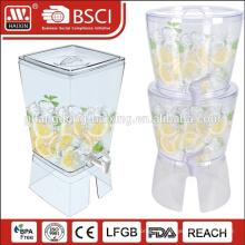 Plastique en vrac chaud et distributeur de jus d'eau froide à vendre