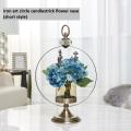 Golden Metal candlestick flower vase decorate house