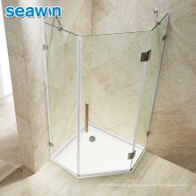 Seawin Bathroom Luxury Chrome Aluminum Tempered Glass Cabin Room Shower Door