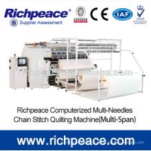 Ponto de bloqueio Multi-velocidade Multi Needle Shuttle Quilting Machine