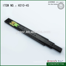 Soft closing telescopic channel for desk drawer