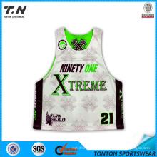 Custom Sublimated Reversible Lacrosse Mesh Jersey