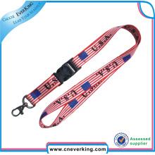 Cordones de poliéster de sublimación impresos a todo color