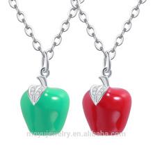 2015 venta al por mayor cristal austríaco navidad rojo / verde Apple colgante