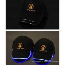 Зимний акриловая Черная Шапочка шляпа с светодиодные света