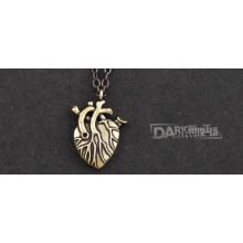 Collier pendentif coeur femme mode rétro chaîne pull