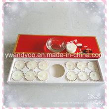 Weiße Duftkerze Teelichtkerze mit Halter