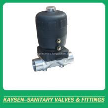 DIN Aseptic pneumatic diaphragm valve welded