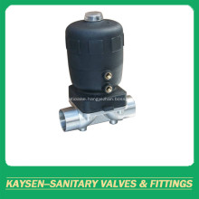 DIN Aseptic pneumatic diaphragm valve welded