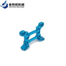 CNC-фрезерная обработка алюминиевых деталей с синим анодированием