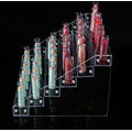 Clear acrylic shelf lipstick nail polish display stand.