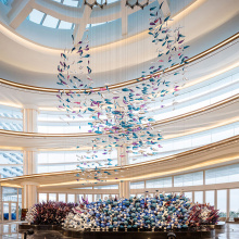 Hotel lobby Engineering led chandelier pendant lamp