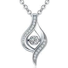 Zink-Einstellung 925 Silber Anhänger Halskette für Frauen