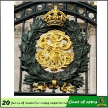 Emblema do metal do ouro do projeto feito sob encomenda para exterior