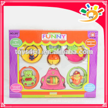 Lovely Enlighten Serie Baby Bell Spielzeug, Funny Plastic Rattle Bell Set Spielzeug (6 Stück ein Set)