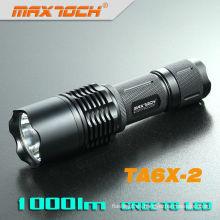 Maxtoch TA6X-2 26650 batería linterna Lumen policía Cree Led Linterna