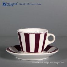 Bulk billig keramische kaffeetasse maßgeschneiderte tee Tasse haltbare Porzellan-Tee Cup und Sausers