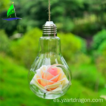 Unique hanging bulb flower vase ,glass light bulb terrarium kit decoration