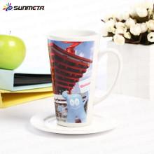 Sunmeta usine directement sublimation céramique conique tasse impression mug Chine fournisseur