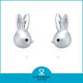 Animal encantador en forma de pendientes de plata de ley resultados (e-0220)