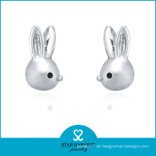 Charming Tier geformte Sterling Silber Ohrringe Erkenntnisse (E-0220)
