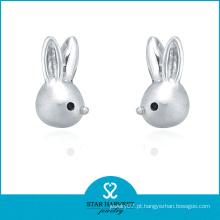 Encantador animal em forma de brincos de prata esterlina achados (e-0220)