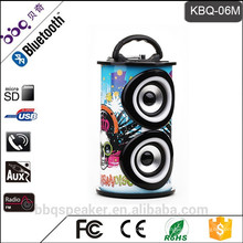 KBQ-06 hot-selling round audio portable mini speaker with usb port/ USB charger/ SD card slot