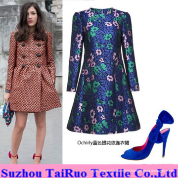 Jacquard Micro Suede with Embossed for Lady Fashion Clothes