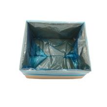 China Factory Superior Quality Custom Transparent Large PE Plastic Square Bottom Bag use for home