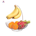 Stainless Steel Kitchen Fruit Basket With Banana Hanger
