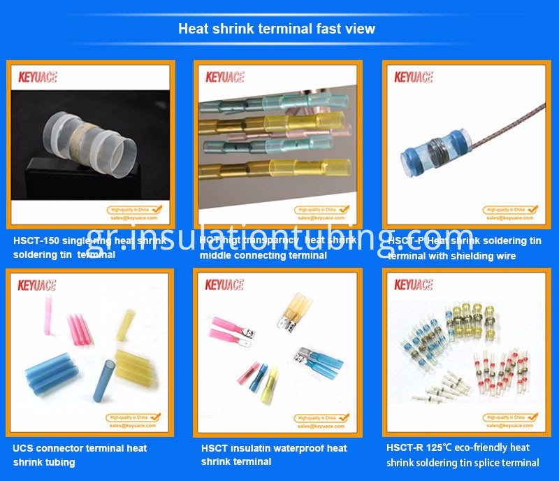 Electrical Terminals Waterproof Seal Assorted Wire Crimp Heat Shrink Butt Connectors Kit