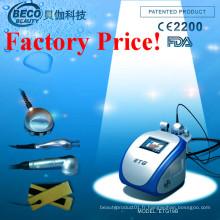 RF + Tête de refroidissement + micro corps de ceinture actuelle amincissant la machine de beauté (ETG19B)