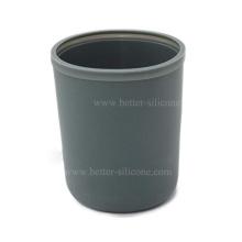Vidro de água personalizado com capa de garrafa de silicone para MasonJars