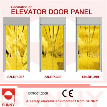 Panel de la puerta de oro St St para la decoración de la cabina del elevador (SN-DP-397)