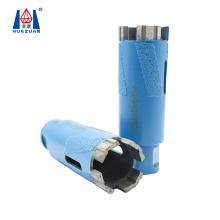 Huazuan 35mm vaccum brazed dry use turbo segment diamond core drill bit for stone masonry drilling