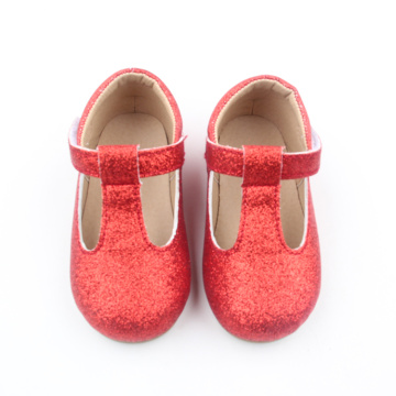 Kleinkind Mary Jane Red T-bar Kleid Schuhe