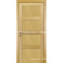 Oak Veneer 4 Panel Shaker Style Wooden Main Door Design