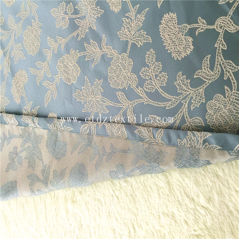 New Types of Ready Made Window Curtain GF029 Water Blue