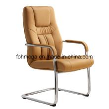 Silla de visitante de silla de lado de pierna de arco de cuero beige (FOH-B36-3)