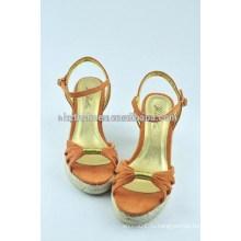 Женская обувь сладкий досуг комфортный джокер клинья льна нижние сандалии для женской обуви