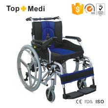 hospital Recomendar Cadeira de Rodas Elétrica Segura de Alumínio com Alça Inclinada para Trás