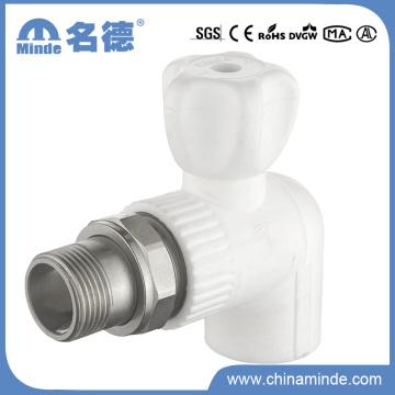 Válvula de esfera de radiador PPR 90 para materiais de construção