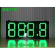 Exposição de diodo emissor de luz impermeável exterior do preço de gás da armação de aço do brilho alto