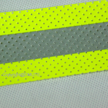 Perforated Aramid Backing Fabric For Flame Retardant Clothing FR Reflective Tape with holes