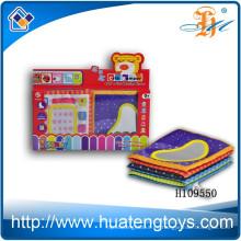 El libro suave al por mayor del paño de Digitaces del bebé educativo para la cama rodeó H109550
