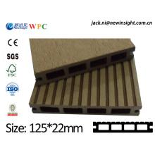 Decking de 125 * 23mm WPC exterior feito em China