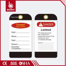 BOSHI Warning Lockout Tag BD-P15, OEM Aceitável