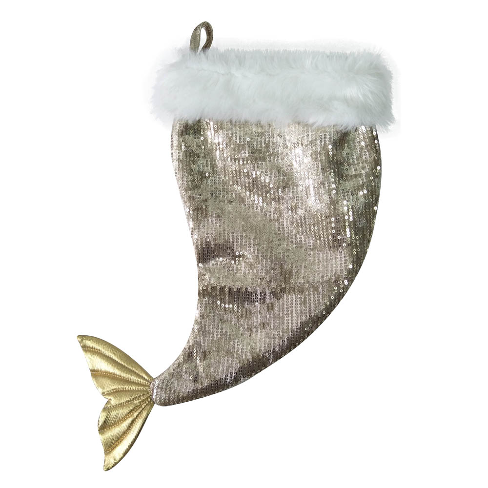 Plump Mermaid Tail Christmas Stocking